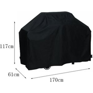 HOUSSE - BÂCHE 170 * 61 * 117cm Noir Bbq imperméable couverture p