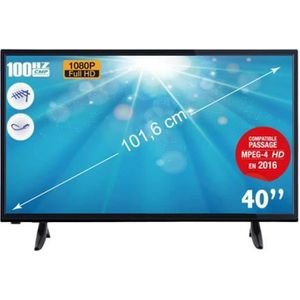 Téléviseur LED TELEFUNKEN TV LED Full HD 1080p 101,6 cm
