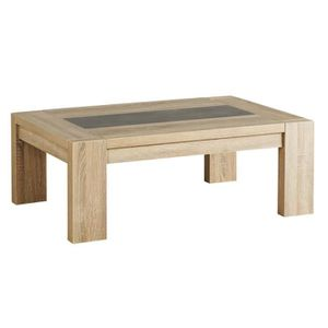 Table basse chene brut achat vente table basse chene for Table basse chene clair pas cher