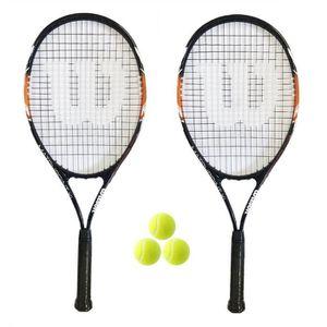 3 Balles De Tennis RRP £ 180 Wilson Ultra CARBONE 103 S Raquette De Tennis