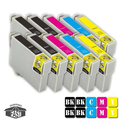 10 CARTOUCHES D'ENCRE ASSORTIES COMPATIBLE T7914 Y pour imprimante EPSON WorkForce Pro WF-5190DW