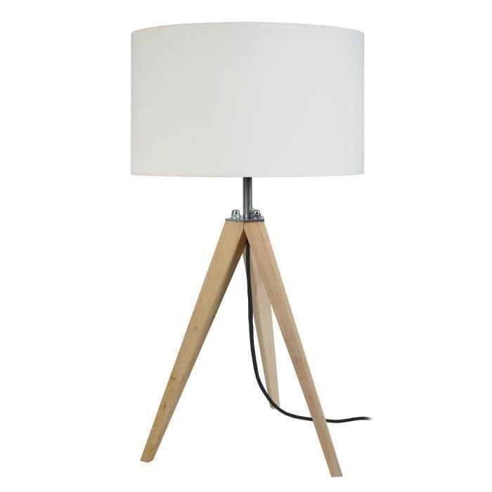 idun lampe poser scandinave tr pied en bois naturel avec. Black Bedroom Furniture Sets. Home Design Ideas