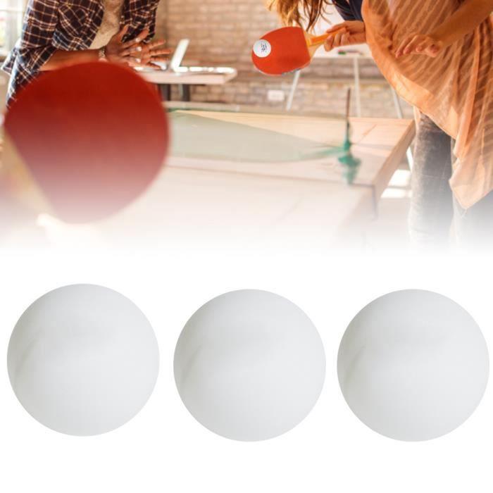 3Pcs Balles de Ping-Pong Durables pour Pratique du Jeu Débutant Entraînement à Compétition Internationale(Blanc )-COL