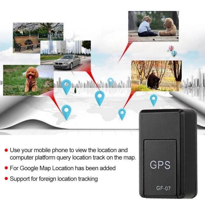 GF-07 Mini GPS Localisateur d'alarme véhicule magnétique GSM GPRS Dispositif suivi en temps réel 150mA -LAT