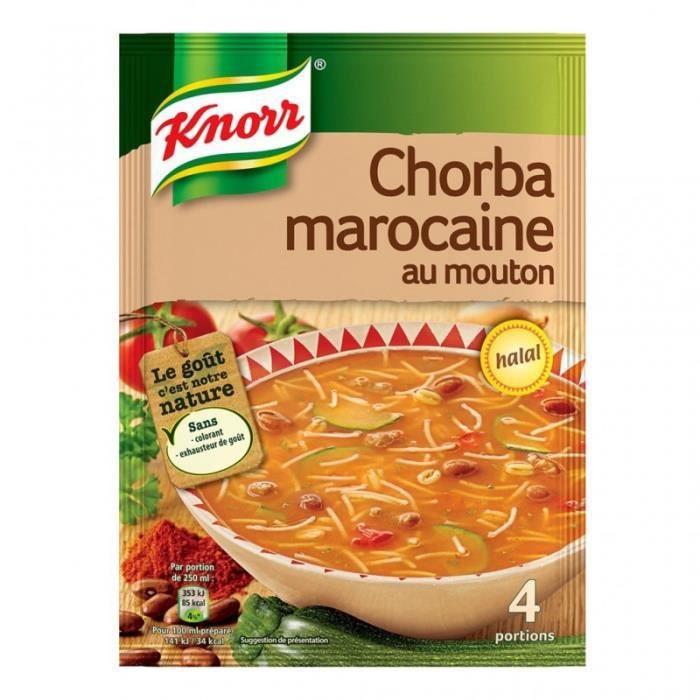 Knorr Chorba Marocaine au Mouton 100g (lot de 6)