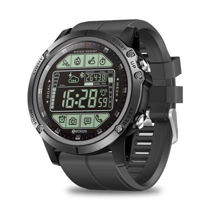 Mise à niveau Zeblaze VIBE 3 S 3 S robuste montre intelligente extérieure 50M étanche 5ATM Smartwatch temps réel Fi - Black - WL8297