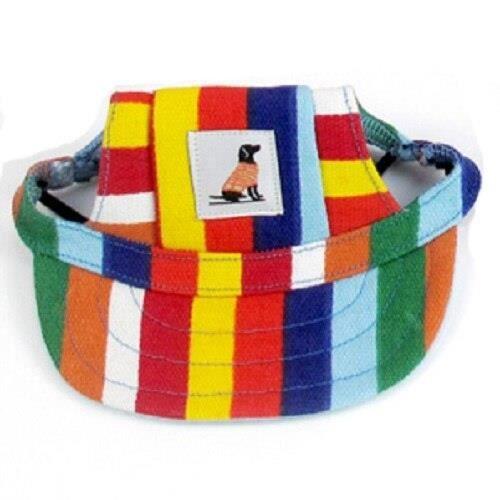 Chapeau,Casquette d'été pour chien chat Accessoires mignons, chapeau de soleil pour petits chiens, casquette de - Type Stripe-S