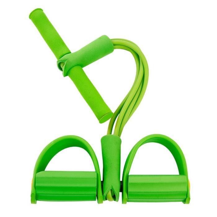 4 cordes de traction élastiques de résistance bande de résistance de rameur d'exercice bandes élastiques d JS3500