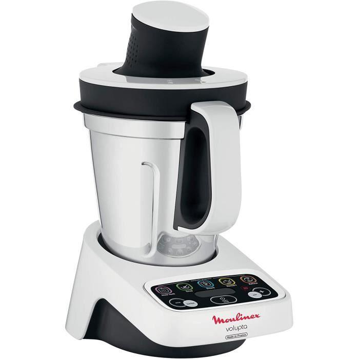 Moulinex HF4041 Volupta Machine à cuisine multifonction 1000 W 1,5 l (capacité d'utilisation) Blanc/gris foncé
