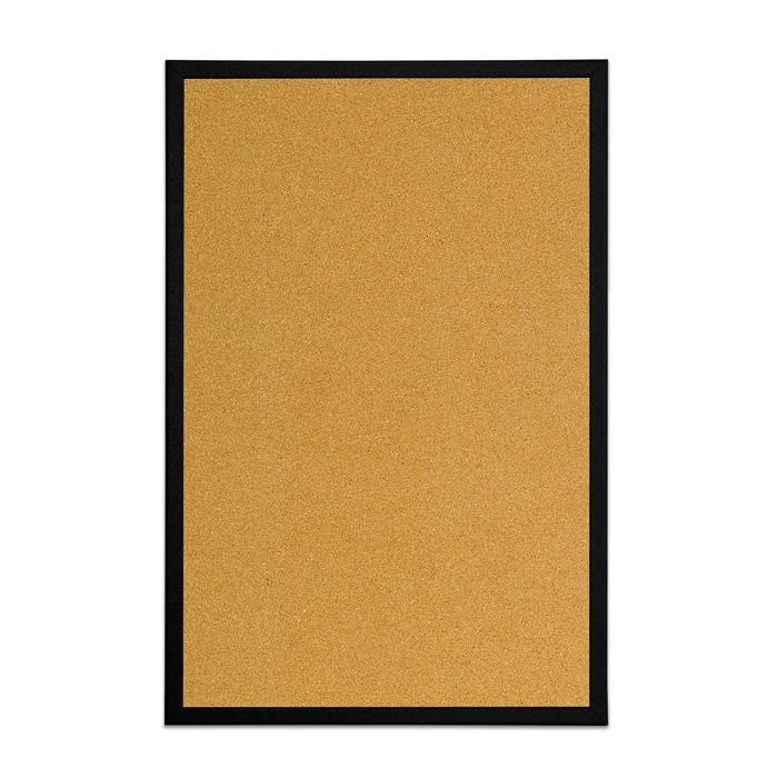 Tableaux en liège Bi-Office Tableau d'affichage en liège, avec Cadre en MDF Noir, 60x40 cm 13936