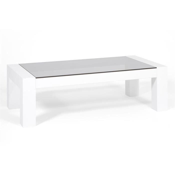 Mobili Fiver, Table basse, plateau en verre trempé, Iacopo, Frêne blanc, Mélaminé/Verre, Made in Italy