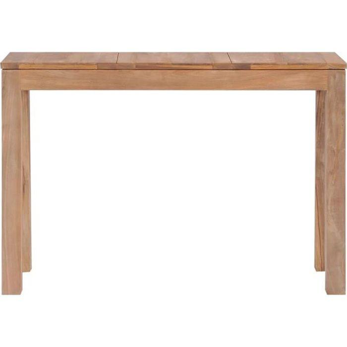 Style Élégance Chic - Console - Table console Armoire console Table d'appoint Bois de teck et finition naturelle 110 x 35 x 76 cm