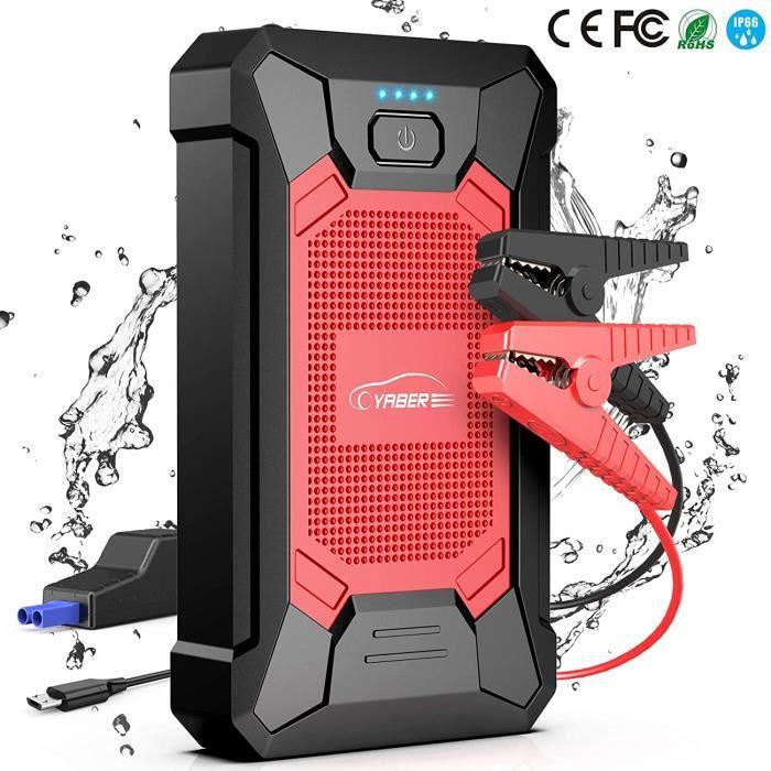 YABER Booster Batterie, 800A 12000mAh IP66 Étanche Booster de Batterie Voiture Moto (Jusqu'à 5,0L de Essence 4,0L Diesel) Robus A2