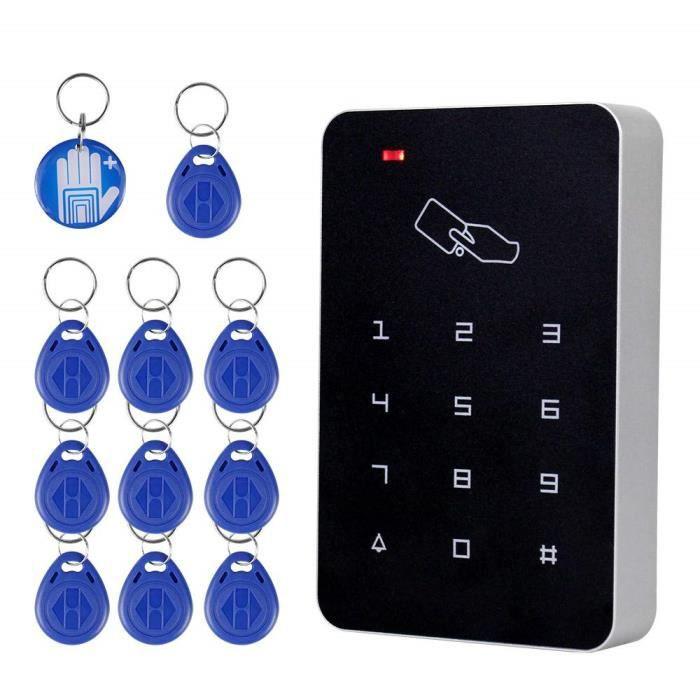 OBO HANDS RFID Autonome de lecteur de cartes de contrôle d'accès avec clavier numérique + 10 touches Tk4100 pour maison-apparteme