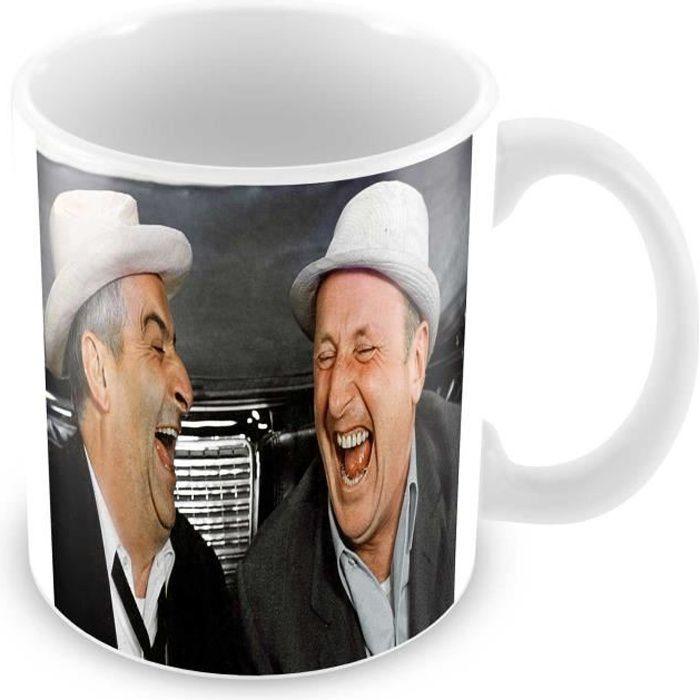 Mug louis de funes bourvil complices rires