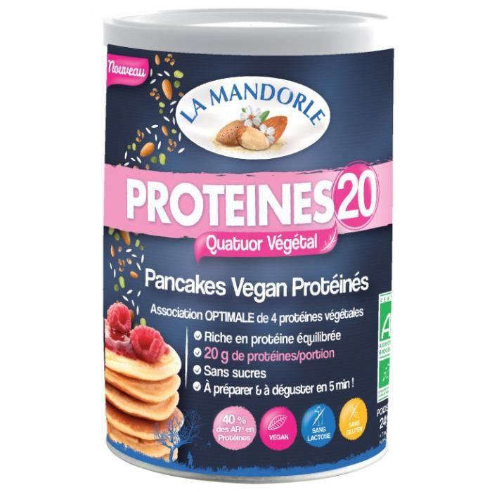 Protéine pancakes vegan 20- 300gr - La Mandorle