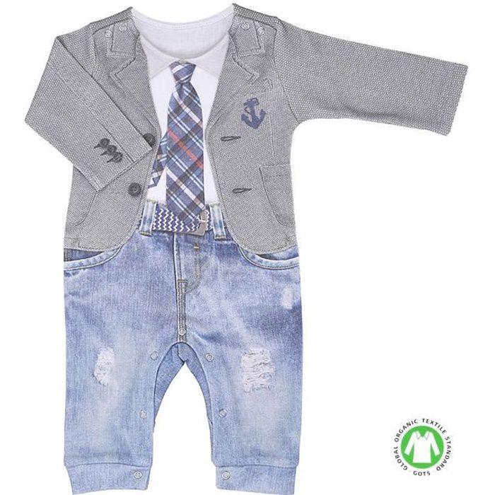 Pyjama bébé garçon en coton bio, LUCAS
