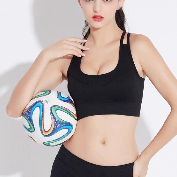 Soutien-gorge de sport - Noir S, Brassière de fitness - Femme, sous-vêtements de sport de course à pied de yoga à séchage rapide