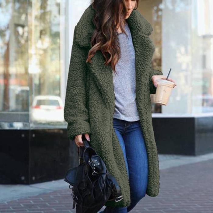 Manteau cardigan surdimensionné ouvert à capuche avec poches drapées pour femmes
