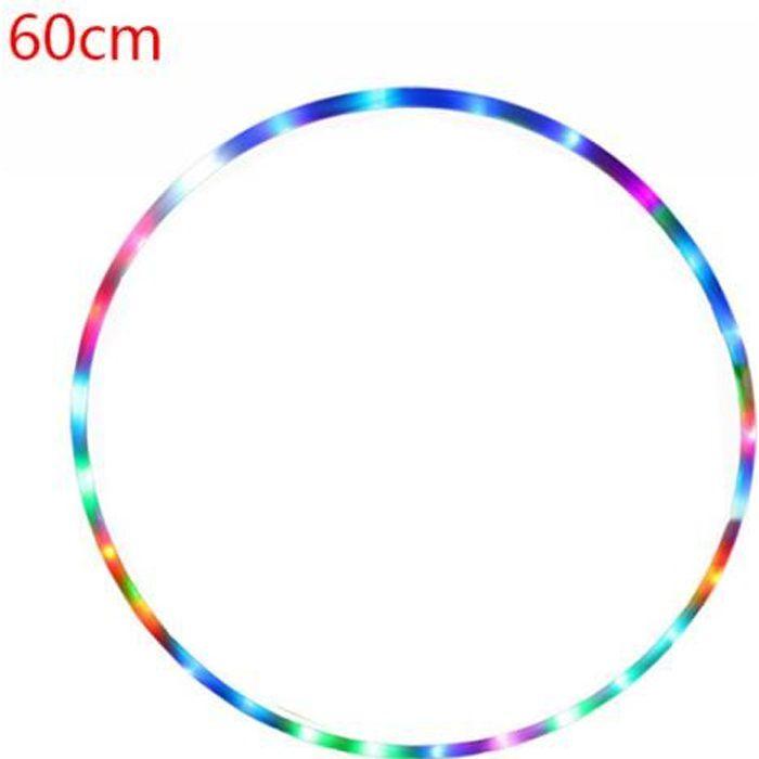Hula hoop-10 lumières détachables colorées, diamètre variable coloré 60
