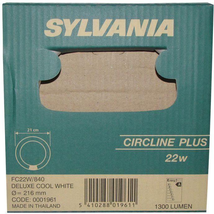 Ampoule fluocompacte Circline - D: 22 cm - 22 W - blanc brillant - 4 000 K