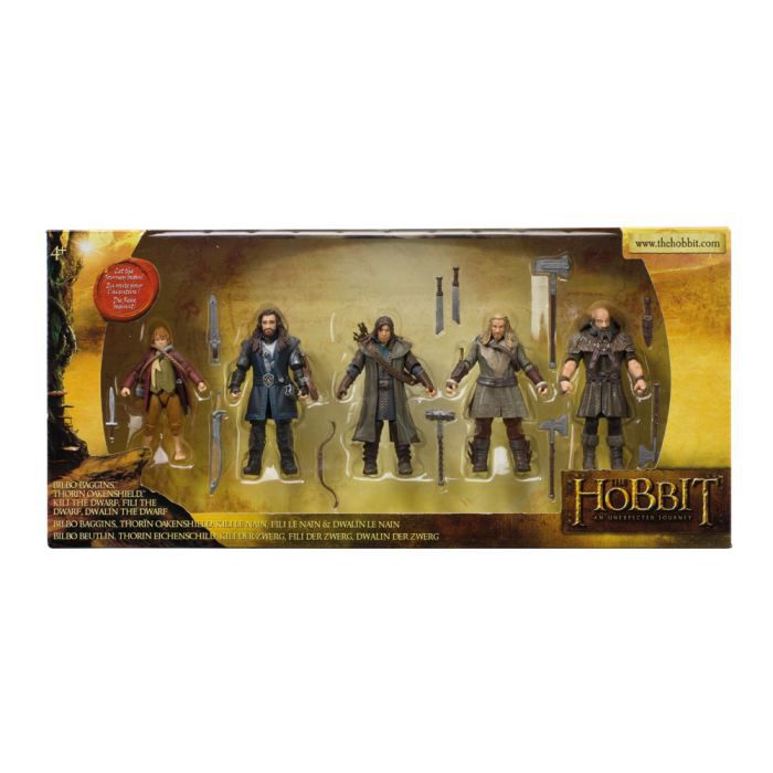 The Hobbit - Pack de 5 Figurines articulées 9cm