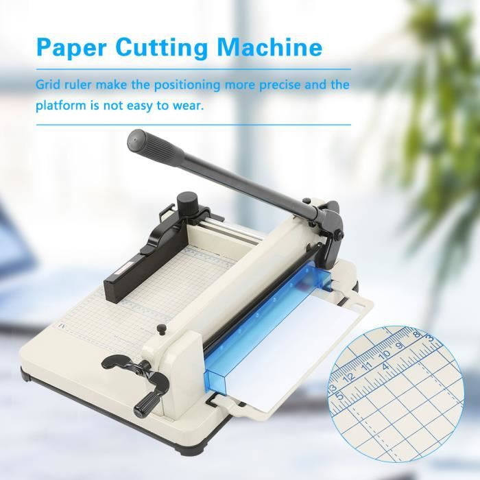 """Massicot Coupe-Papier 12/"""" Width Guillotine Paper Cutter Paper Trimmer"""
