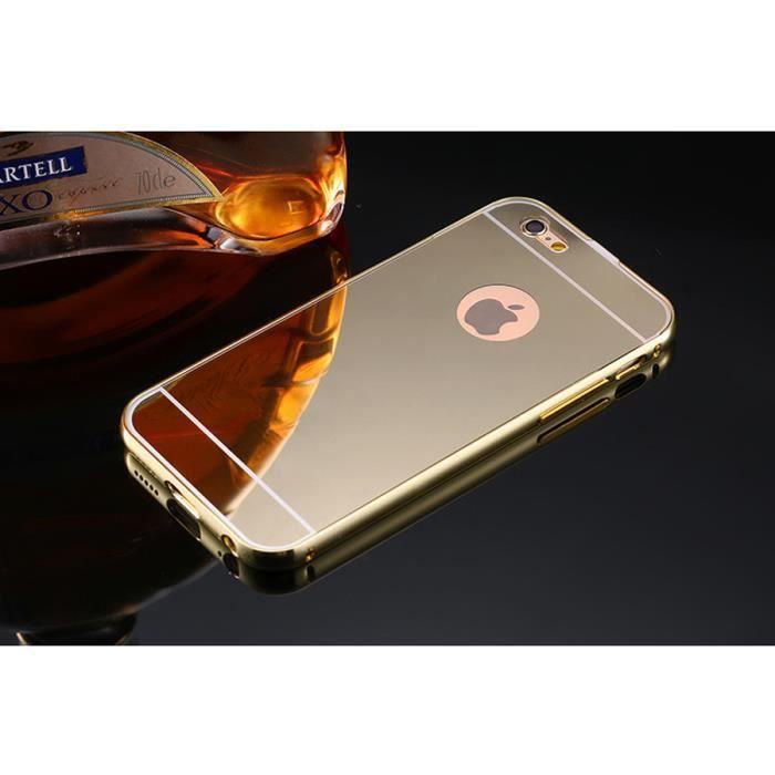 miroir coque iphone 6 plus gold or