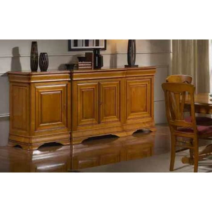 bahut 4 portes corps avanc s merisier massif 39 j achat vente buffet bahut bahut 4 portes. Black Bedroom Furniture Sets. Home Design Ideas