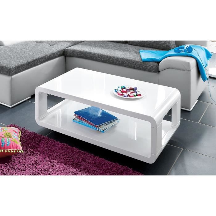 table basse table basse roulette coloris blanc laqu - Table Basse A Roulettes