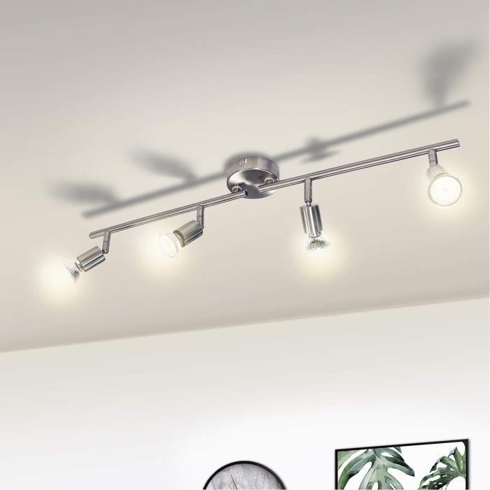 PLAFONNIER Wowatt Plafonnier LED à 4 spots Ajustables avec 4x