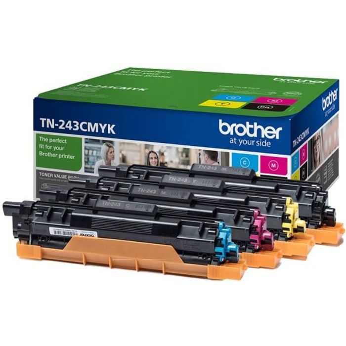 CARTOUCHE IMPRIMANTE BROTHER Pack 4 toners - Consommables originaux (TN