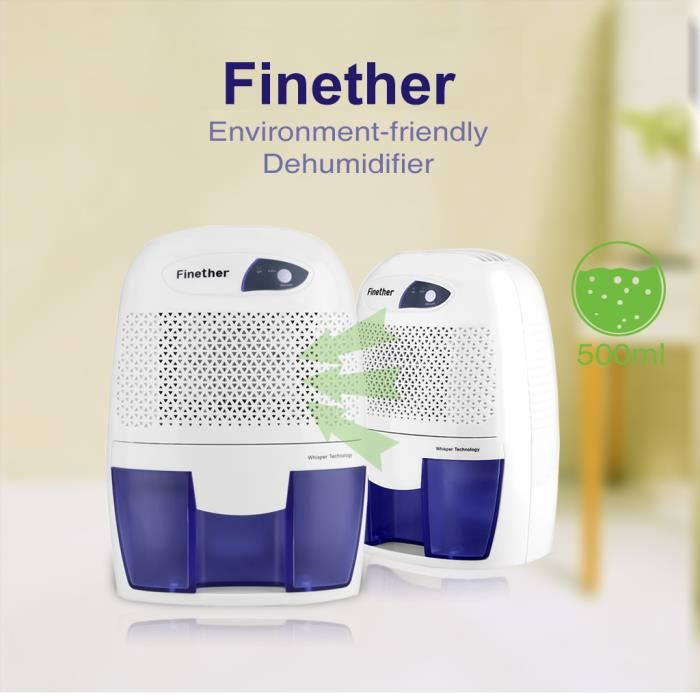 Bon DÉSHUMIDIFICATEUR Finether 500ml Mini Déshumidificateur Du0027Air Portab
