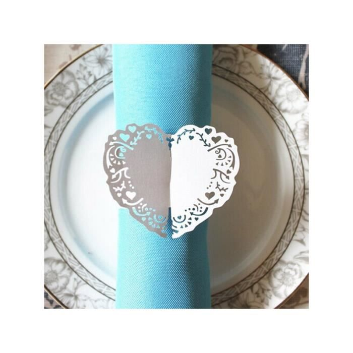 50pcs rond de serviette en papier d cor table mariage for Rond de serviette maison