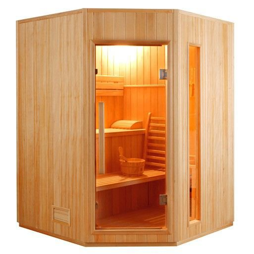 sauna vapeur zen angulaire 3 places achat vente kit. Black Bedroom Furniture Sets. Home Design Ideas