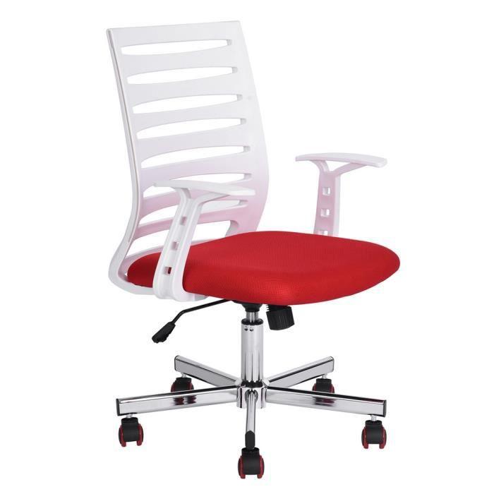 CHAISE DE BUREAU Homy Casa Chaise de Bureau à Roulettes - Accoudoir
