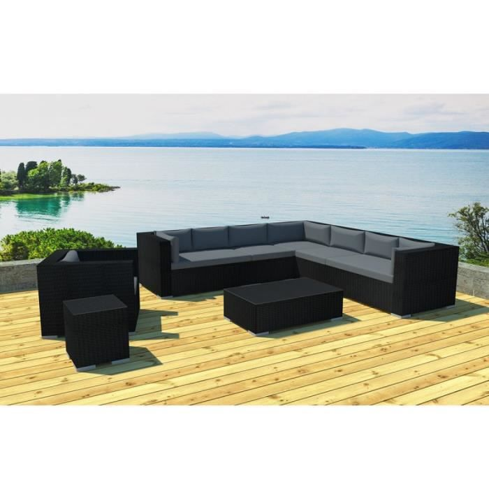 paris prix salon de jardin en r sine canberra 8 places. Black Bedroom Furniture Sets. Home Design Ideas