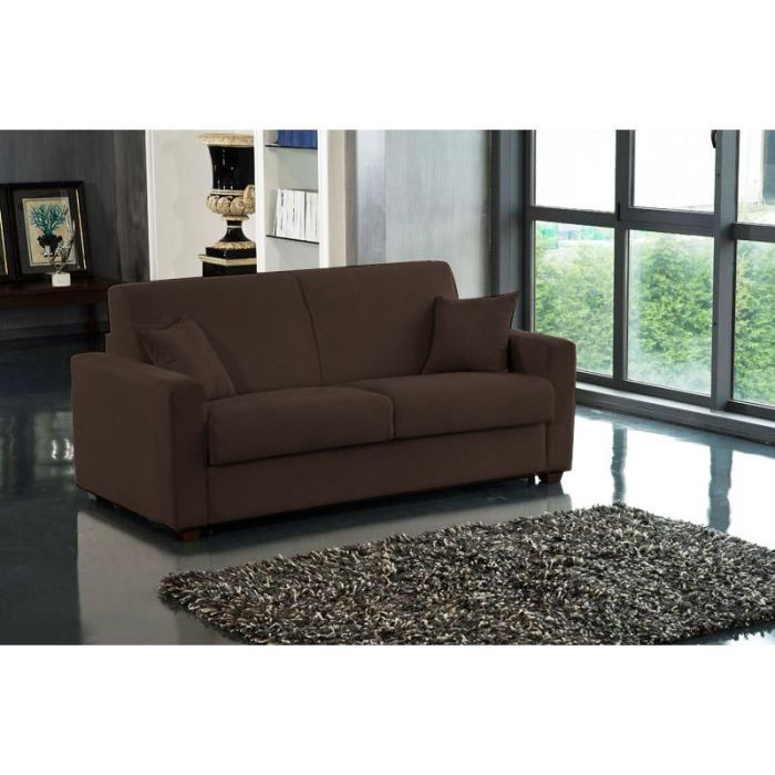canap convertible rapido milano marron chocolat achat vente canap sofa divan cdiscount. Black Bedroom Furniture Sets. Home Design Ideas