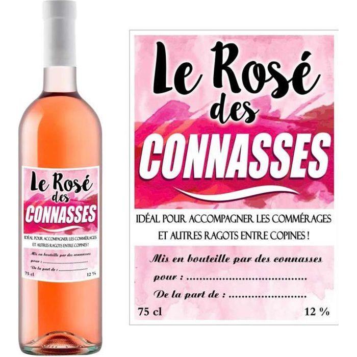 OBJET DÉCORATIF STC - Bouteille Humoristique de Vin Rosé à offrir