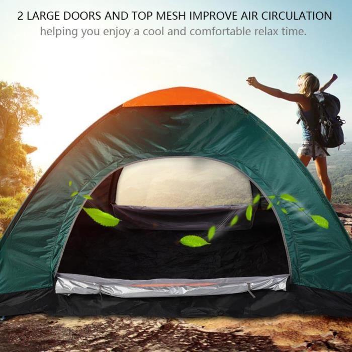 TENTE DE CAMPING Tente de camping imperméable résistant aux UV port