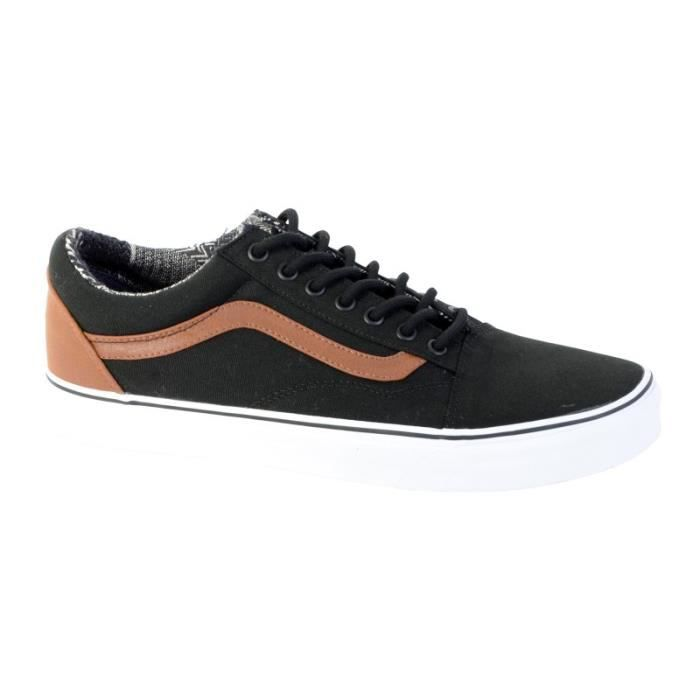 Vans Black Old Material Basket Skool Mixte zqRw0vfx