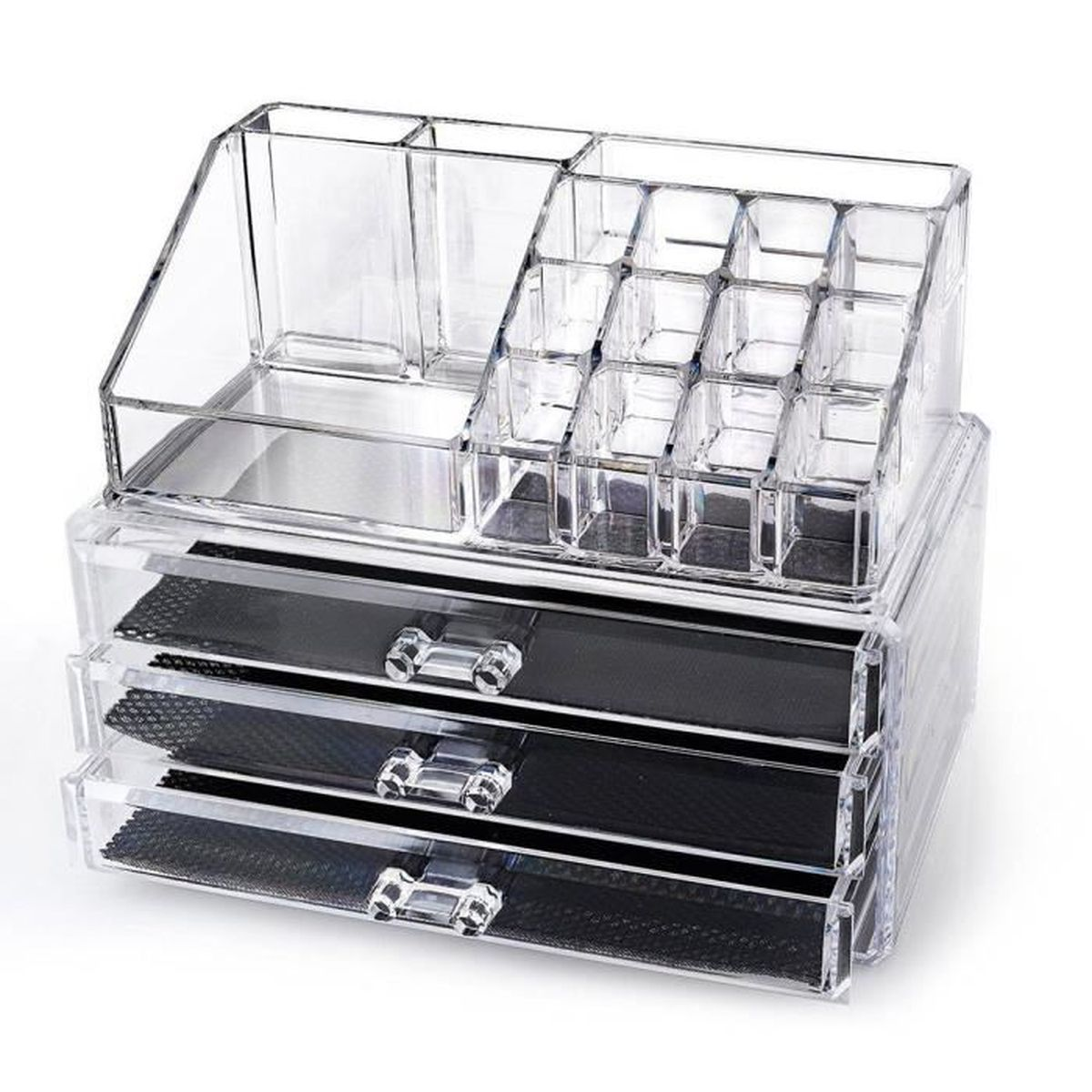 maquillage acrylique transparent tiroir organisateur cosm tiques bo te de porte plaquette de. Black Bedroom Furniture Sets. Home Design Ideas