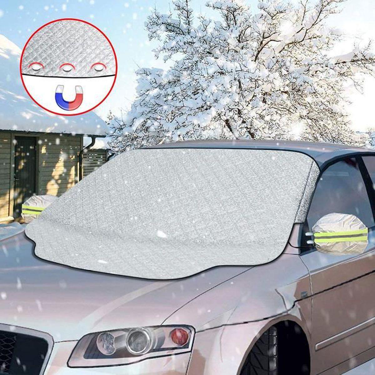 Casecover Pare-Brise Avant Voiture Couverture dhiver /Épaissir Anti-Neige Anti-Gel Anti-Freeze Pare-Brise Demi-Shield V/êtements Pare-Brise De La Couverture Neigeuse