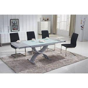 TABLE BASSE Table basse design relevable extensible plateau en