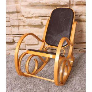 FAUTEUIL Fauteuil à bascule rocking chair en bois clair ass