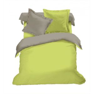 PARURE DE DRAP Parure de draps 4 pièces Bicolore (140cm) Vert/tau