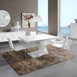 TABLE À MANGER SEULE Table de repas extensible 220x90cm ultra moderne p