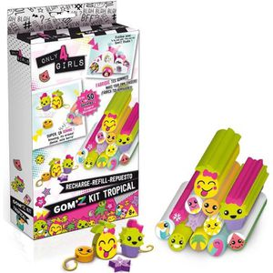 JEU DE STICKERS CANAL TOYS - Only 4 Girls - Gom'z Tropical - Recha