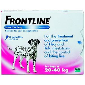 ANTIPARASITAIRE Frontline Spot On Chiens 20-40 kg Protection To…