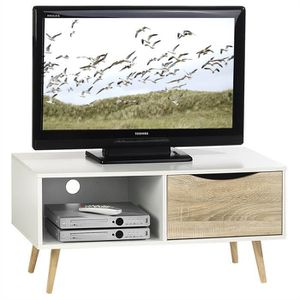 meuble tv 90 cm achat vente meuble tv 90 cm pas cher cdiscount. Black Bedroom Furniture Sets. Home Design Ideas